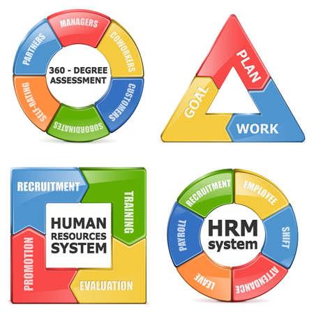 subordinates: Vector HRM Diagrams Illustration