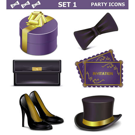 shoe model: Vector Party Icons Set 1