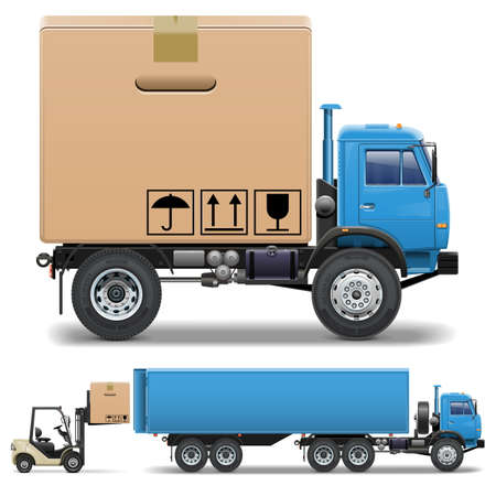 Vector Truck and Forklift Vector