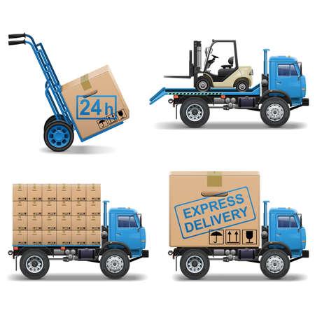 Vector Shipment Icons Set 5 Illustration