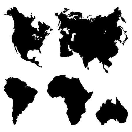 Continentes Pictograma Ilustración de vector