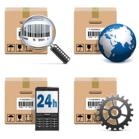 express delivery: Vector Shipment Icons Set 15