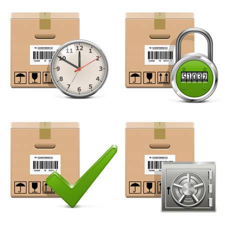 Vector Shipment Icons Set 16