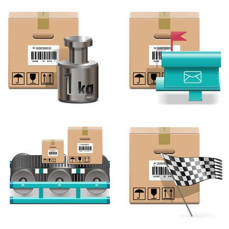 Vector Shipment Icons Set 17 Stock Vector - 24353058