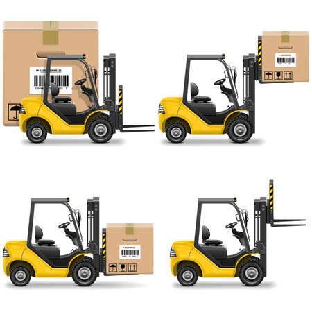 shipments: Vector Shipment Icons Set 20 Illustration