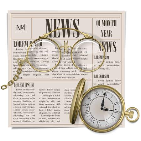 Vector Retro Newspaper Concept