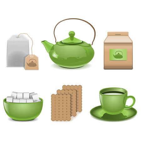 tea ceremony: Vector Tea Icons