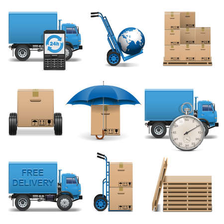 pallet: Vector Delivery Icons Set 4