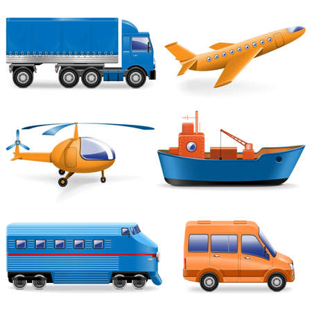barge: Vector Transport Icons