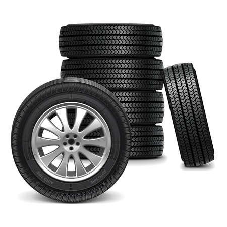 Vector Car Wheels Illustration