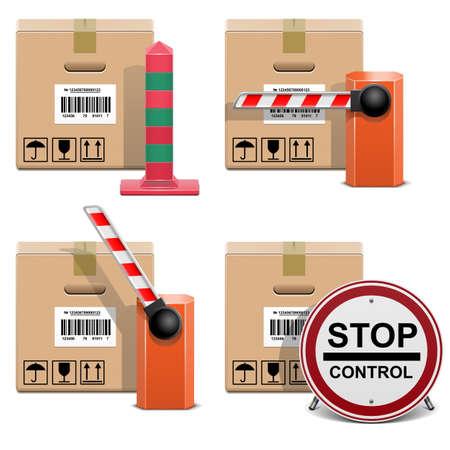 Vector Verzending Icons Stock Illustratie