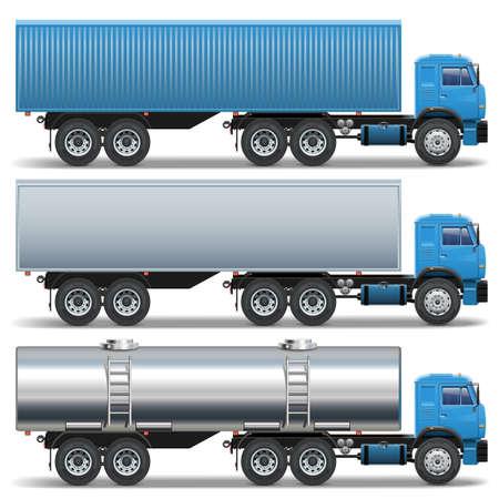 camión cisterna: Vector Icons remolque Vectores