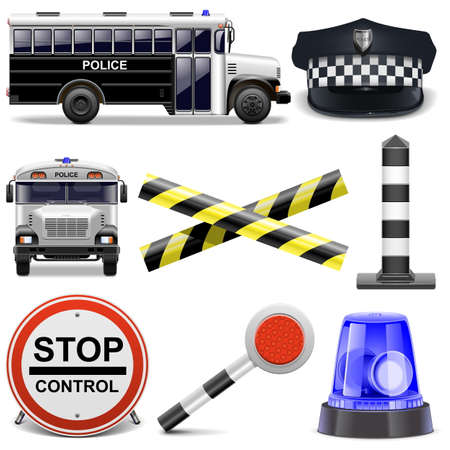 Vector Police Icons Vector