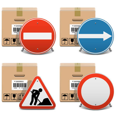 under control: Vector Shipment Icons Set 23
