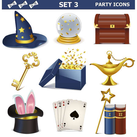 genie: Vector Party Icons Set 3