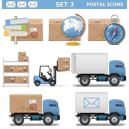 Vector Postal Icons Set 3