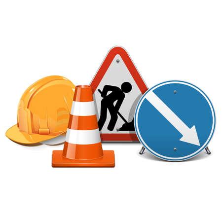 taper: Vector Road Construction Concept