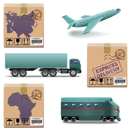 export import: Vector Shipment Icons Set 27