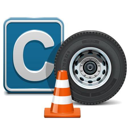 autoscuola: Vector veicolo di categoria C