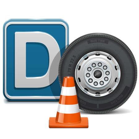 autoscuola: Vector veicolo della categoria D Vettoriali