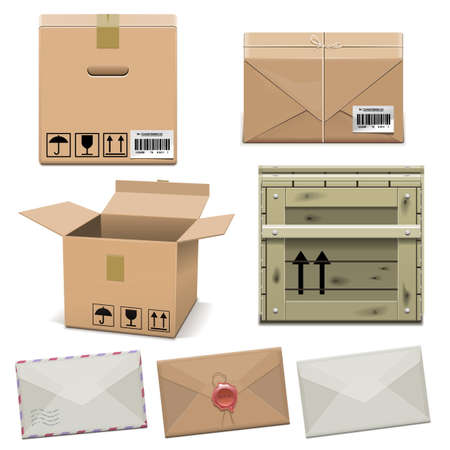 Vector Package Icons Illustration