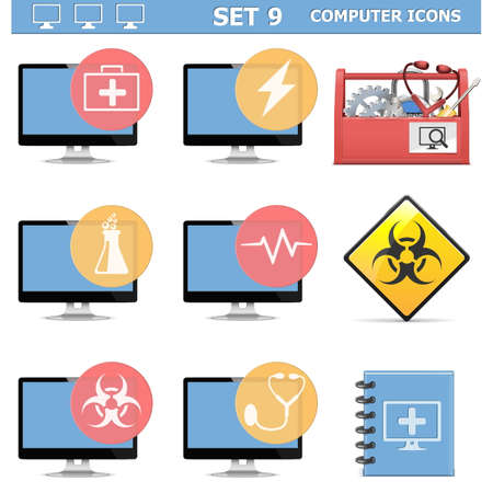 Vector Computer Icons Set 9 Stock Vector - 26056316