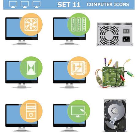 Vector Computer Icons Set 11 Vector