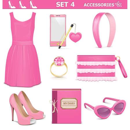 ladies shoes: Vector Female Accessories Set 4