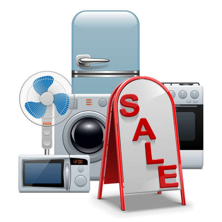 Vector Household Appliances Sale Vector