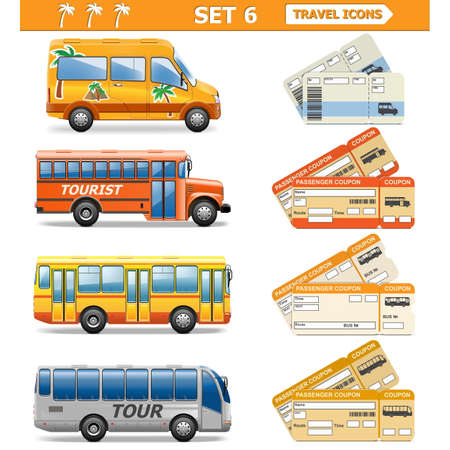 ticket office: Vector Travel Icons Set 6