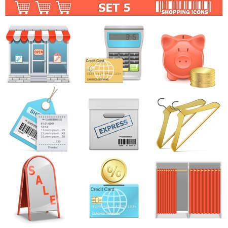 Vectorielle Shopping Icons Set 5
