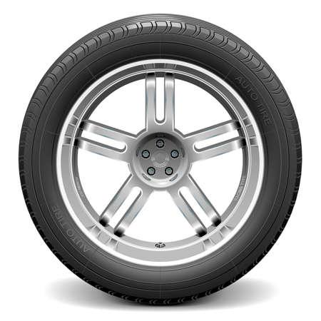 car wheel: Vector rueda de coche
