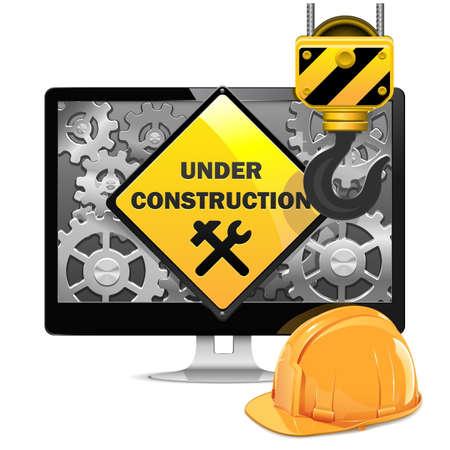 under control: Vector Computer Repair with Helmet