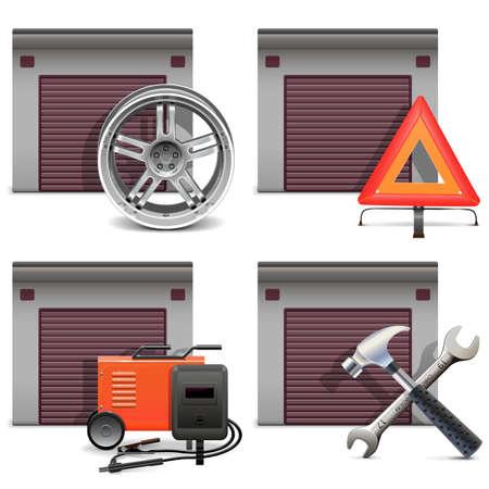 diagnostic: Garage Icons set