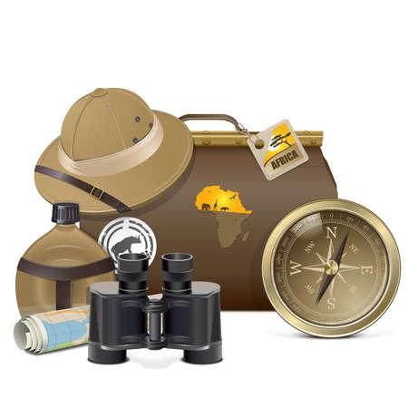 Safari Accessories Concept Vector