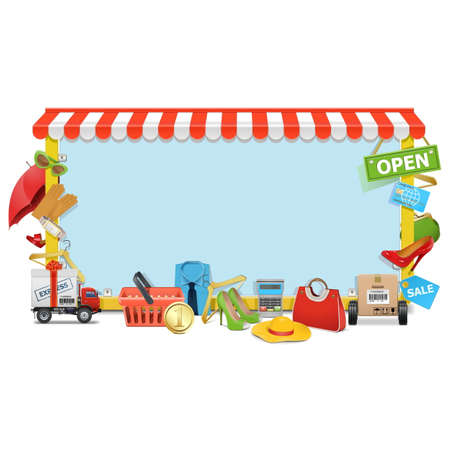 Vector Shopping Board isolated on white background