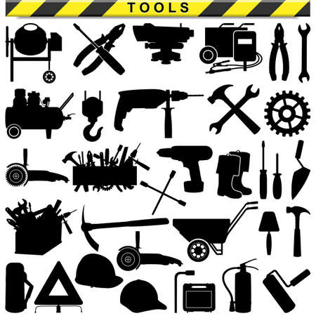 perforator: Vector Tool Pictograms isolated on white background Illustration