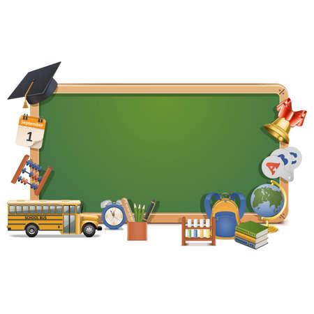 calendario escolar: Vector Escolaridad Junta aislada sobre fondo blanco Vectores