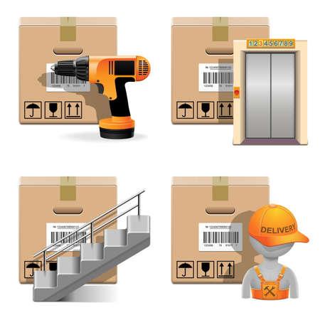 installing: Vector Shipment Icons Set 30