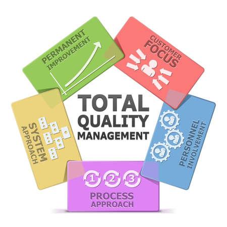 合計: ベクトル TQM システム  イラスト・ベクター素材