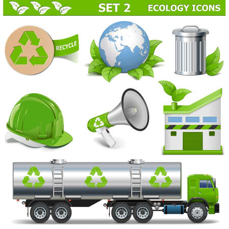 cleaning earth: Vector Ecology Icons Set 2