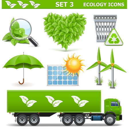 waste products: Vector Ecology Icons Set 3 Illustration