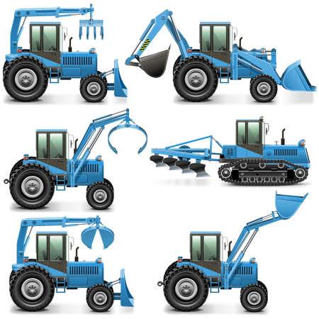 harrow: Vector Agricultural Tractor Set 3