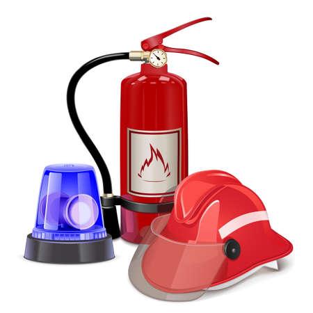 bombero de rojo: Vector de Prevenci�n de Incendios Concept Vectores
