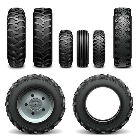 cargador frontal: Neumáticos vectorial Tractor