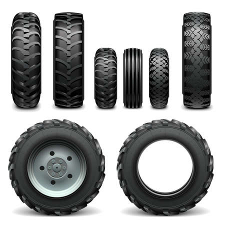 offroad car: Vector Tractor Tires