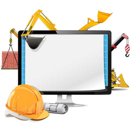 Vector Computer Construction Project Stock Vector - 28527132