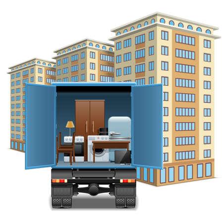 ベクトルの家具運搬