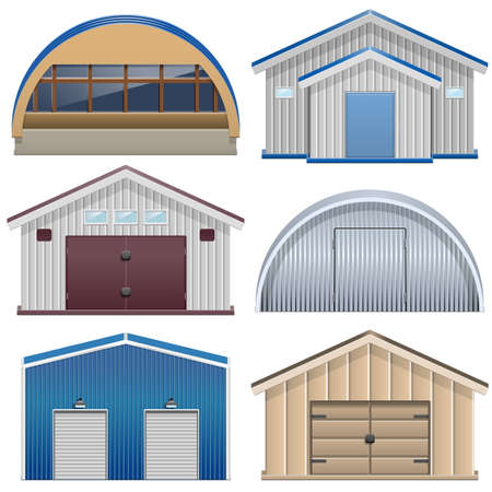 hangar: Barns Illustration