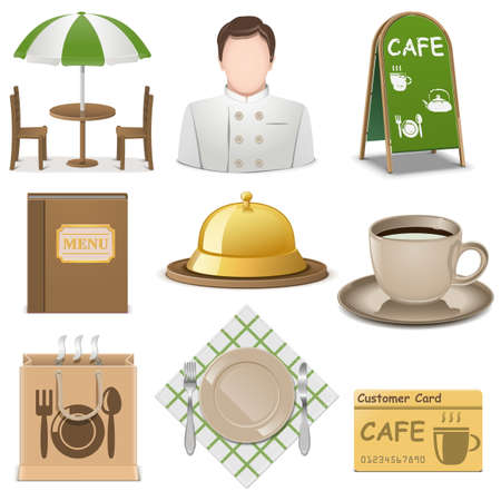 Vector Cafe Icons Stock Vector - 29264123